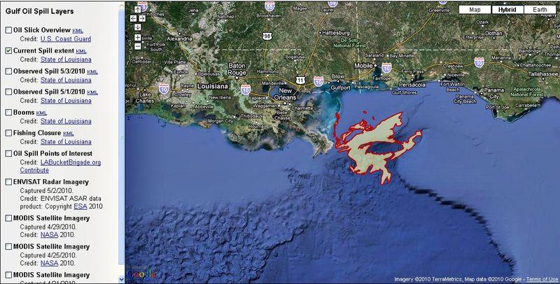 Google oil spill image